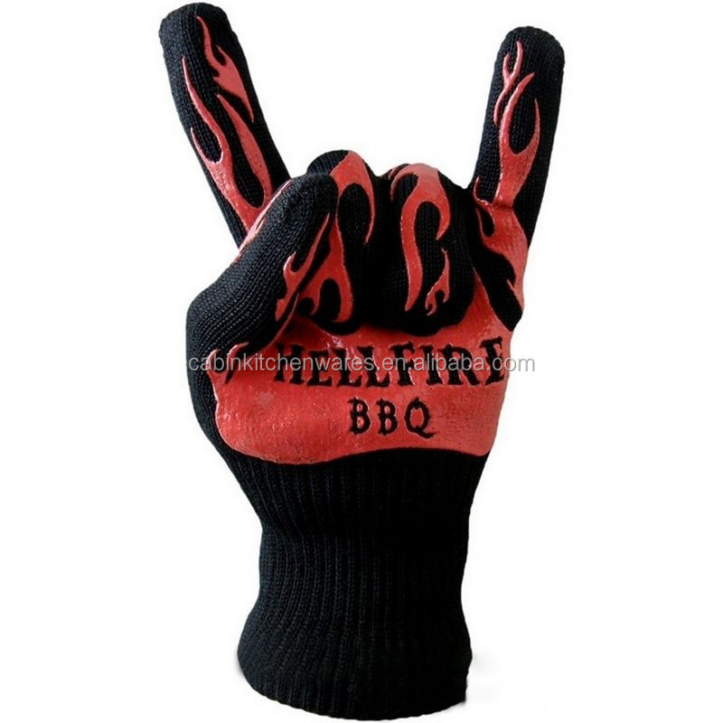 BBQ Gloves Grill Cook Gloves 932F Extreme Heat Resistant Gloves