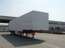 hot sale tri axle dry food transport van type box semi trailer for sale