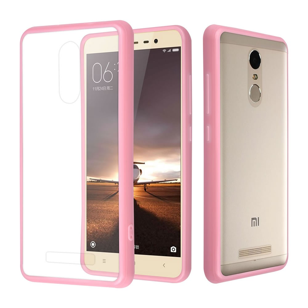 C & T Rosa TPU-Stoßfänger Crystal Clear Hard Case Back Cover für Xiaomi Redmi Note 3