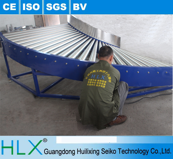 With ISO 9001:2008 certification 90 degree Stainless steel roller conveyor,90 degree turning made in china