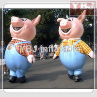 wholesale lovey pig inflatable moving cartoon animals