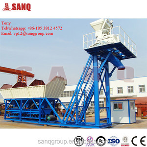 Hot product MHZS35 mobile modular concrete mixing plant mini cement plant for sale