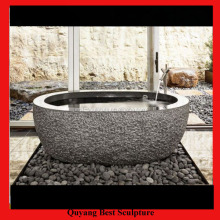 Hotel Used Free Standing Cheap Balck Granite Marble Bathtub for Sale