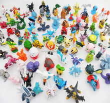 POKEMAN mini cartoon figure, collectible pokeman plastic figure statue, promotion pokeman pvc figurine