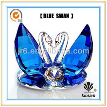 New design Blue Crystal Swan with Diamond for wedding gift and Valentine's day gift