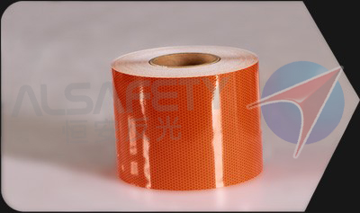 orange retro reflective adhesive tape for pasting on dangerous goods transportation vehicles