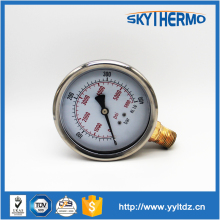 pressure guage meter precision glass manometer oil pressure gauge