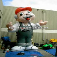 Advertising inflatable cartoon character 2m for sale