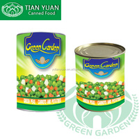 300g,400g,800g,3000g 2017 new crop canned peas and carrots,mixed vegetables