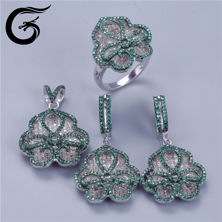 luxury set jewelry cz 925 silver wholesale silver