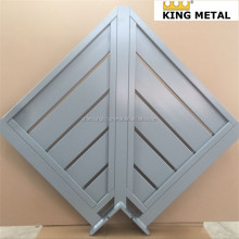 aluminium privacy fencing /wood grain slats/customized design