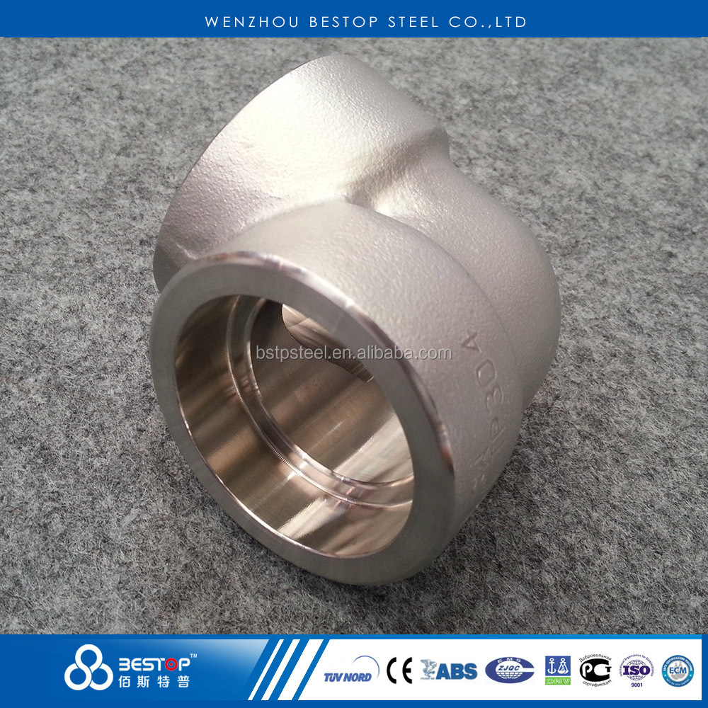 Stainless Steel Socket Welding 90 Degree Elbow Forged SW pipe fitting A403 304 316L