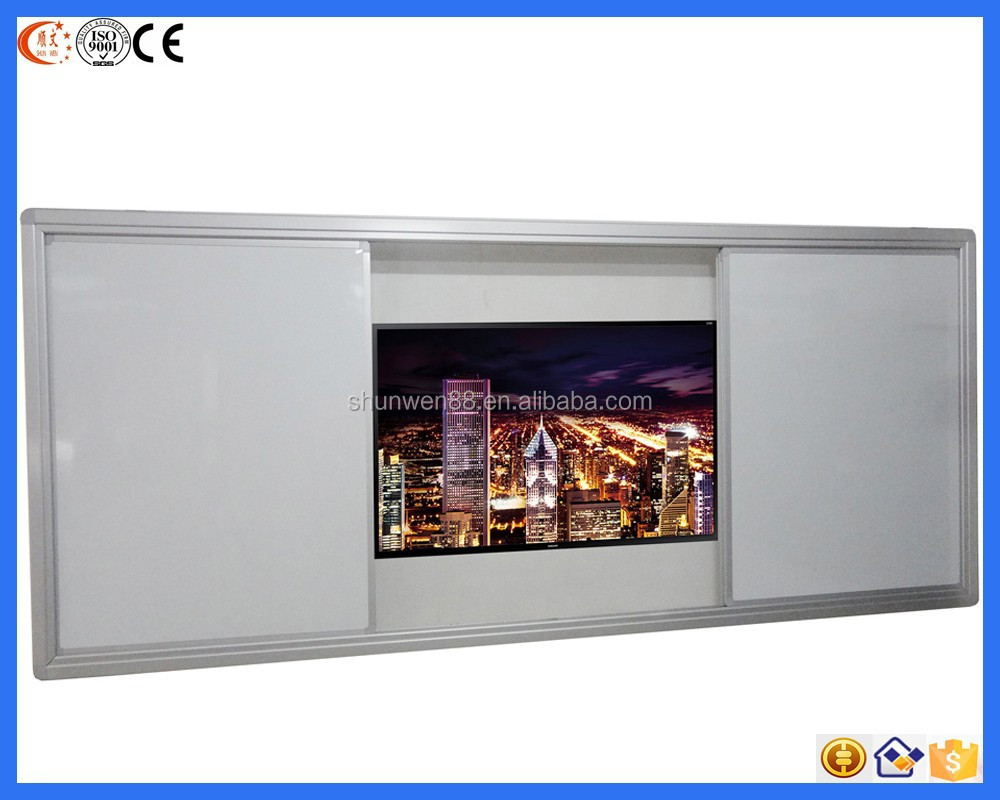 2015 China best sellers aluminum frame magnetic wall vertical sliding white board