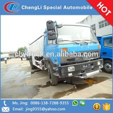 Dongfeng 4x2 18 CBM fuel tanker truck with refueling machine sale in Azerbaijan
