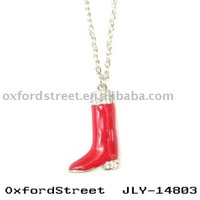 Hot christmas jewelry,red shoe pendant 2012