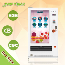 Amazing 55 inch touch screen serving hot and cold drinks or beverage liquid merchandise vending machine
