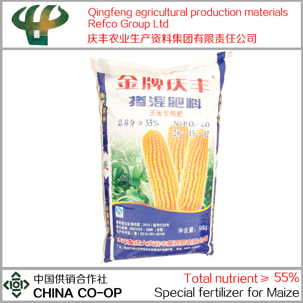 New type of high nitrogen npk corn fertilizer N-P2O5-K2O=28-15-12