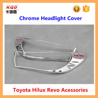 toyota accessory abs plastic chrome headlight cover hea light head lamp cover for toyota hilux revo HL 4x4 accessories