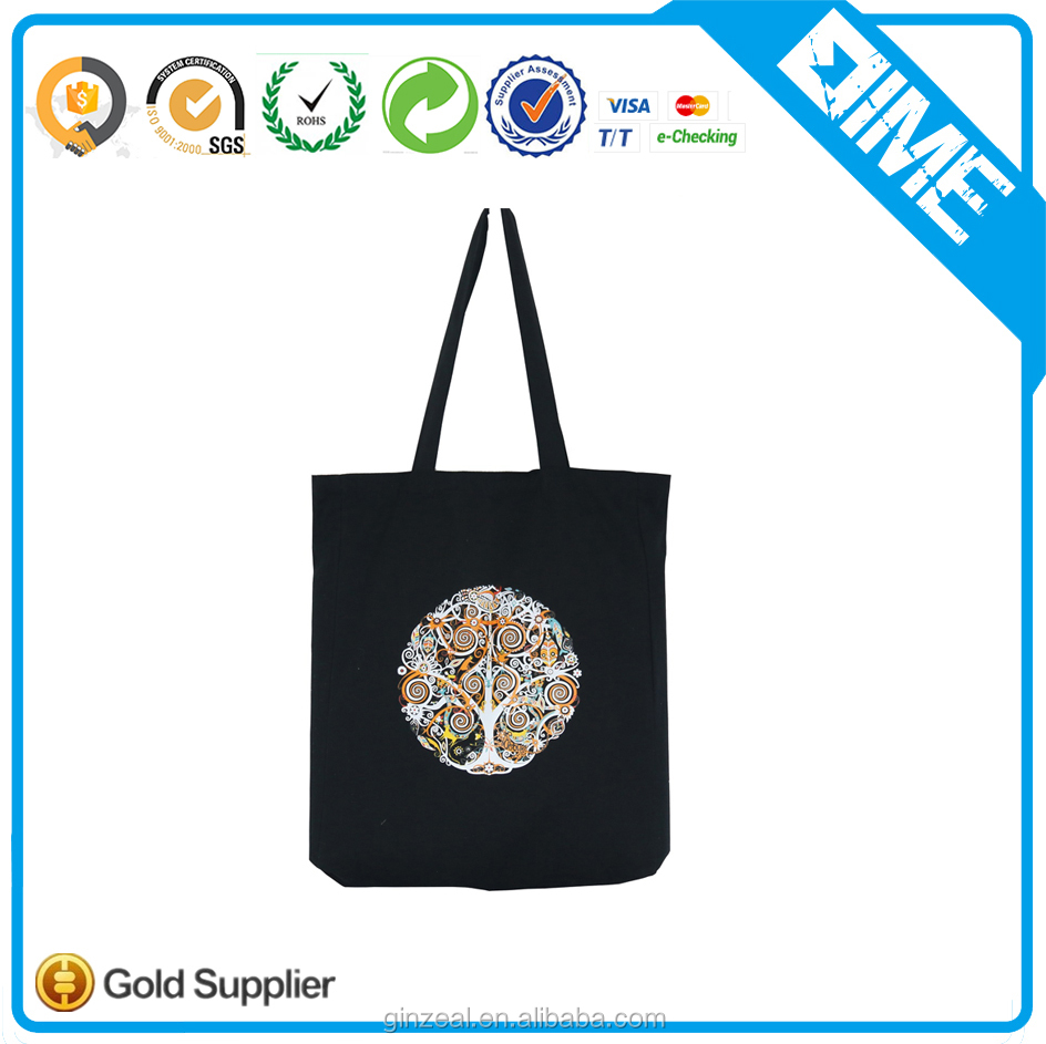Simple Cotton Custom Shopping Handbag Women Fashion Tote Bag Shopping