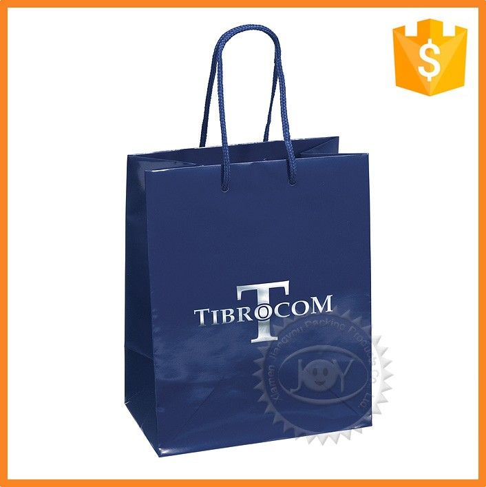 Custom made full color laminated shopping paper bag with logo print