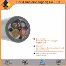 Flexible 4 core power cable drum with rubber sheath