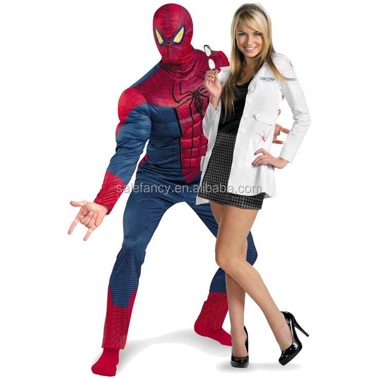 spider man gwen paare kost m superhelden halloween kost m paar qawc 2313 sexy kleidung produkt. Black Bedroom Furniture Sets. Home Design Ideas
