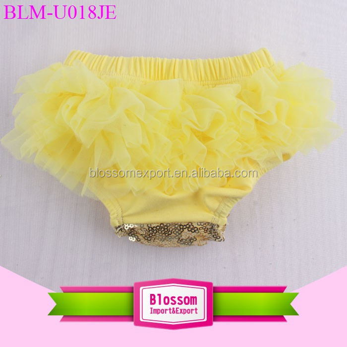 2017 Newborn ruffle tutu diaper cover baby cotton boutique chiffon shorts & blouse wholesale baby ruffle bloomers solid color
