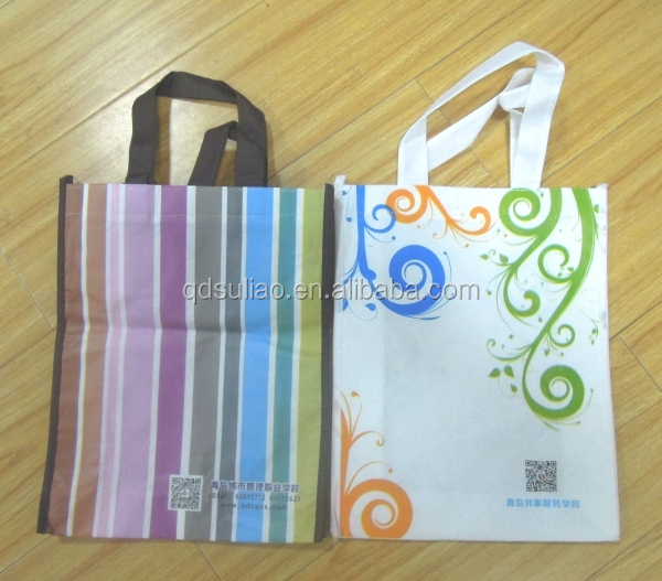Customized non woven recyclable soft loop handle shopping bags