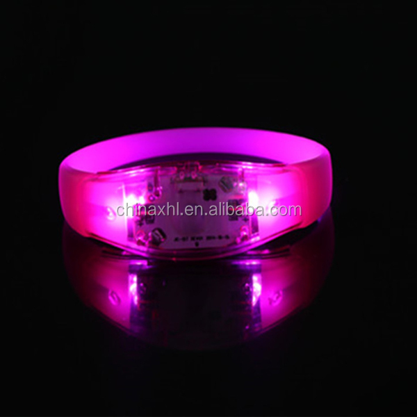 LED glow bracelet plastic wristband flash bracelets