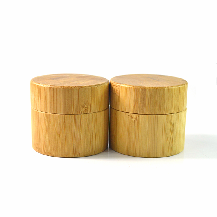 cosmetic packaging 100g 200g 250g bamboo lid luxury cosmetic bamboo cream jar