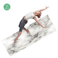 2018 new trend pro custom private label sublimation printed foldable square yoga mat rubber backed floor mats