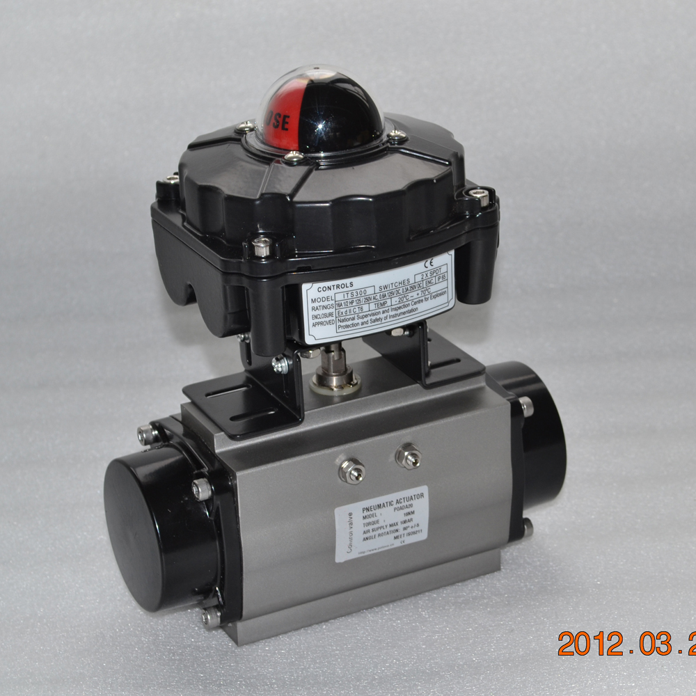 China made cheap price high quality APL pneumatic ball valve limit switch box