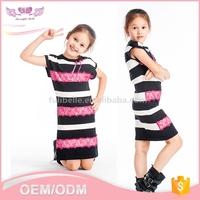 Latest fashion new design children wear plus size 3 year old girl short frock dress
