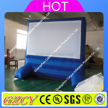 Inflatable movie screen indoor outdoor