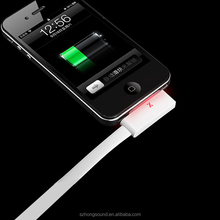 1M High-transfer Speed USB charging cable with light for iPhone 4/4S