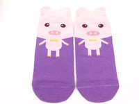 Lovely cat knitted cotton tube socks for women jacquard cotton socks