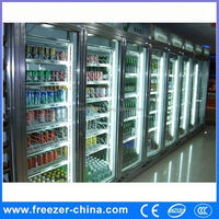 Glass door triple door refrigerator showcase/commercial refrigerator