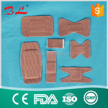 SS -Waterproof Heavyweight Fabric Strips / Elastic Strip Bandages flexible wundpflaster butterfly/Anchor/finger Plaster Strips