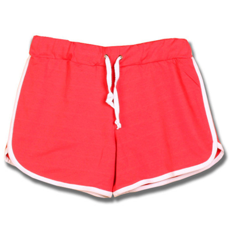 12 Colors Gym Shorts Women Thin Cotton Women Running Shorts Summer Style 2015 Sexy Elastic Waist Beach Surf Shorts Mujeres T044