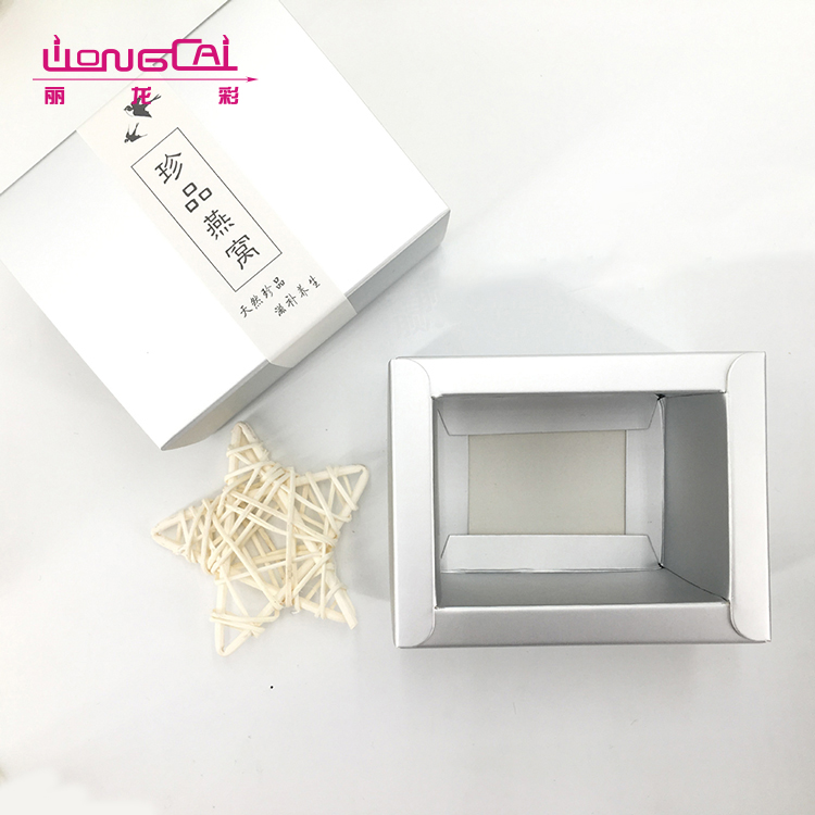 Good quality color printing elegant luxury square disposable food packaging box