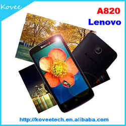 big screen 3g mobile phone 4.5inch Lenovo A820 Android 4.1 Quad Core MTK6589M 1.2Ghz 3G Smartphone WIFI Bluetooth GPS