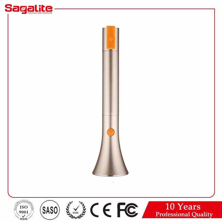 2015 Graceful and concise Apple style Li battery 8Hworking time rechargeable led torch light