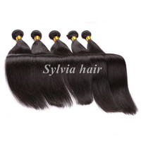 Tangle free no shed hair brazilian virgin hair straight human hair weave