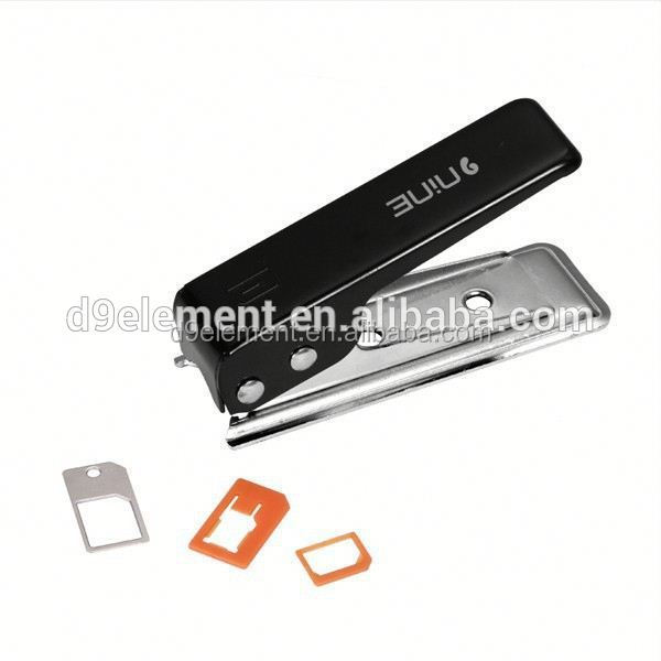 Hot Selling Regular Micro Sim Adapters Card to Nano Sim Cutter for iphone 6