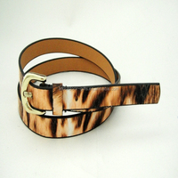 old fashioned simple PU leather belt for jeans
