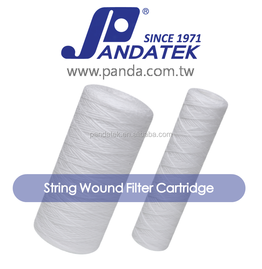 0.5 micron Water Sediment Filter Cartridge String Wound Type Cartridge Filter