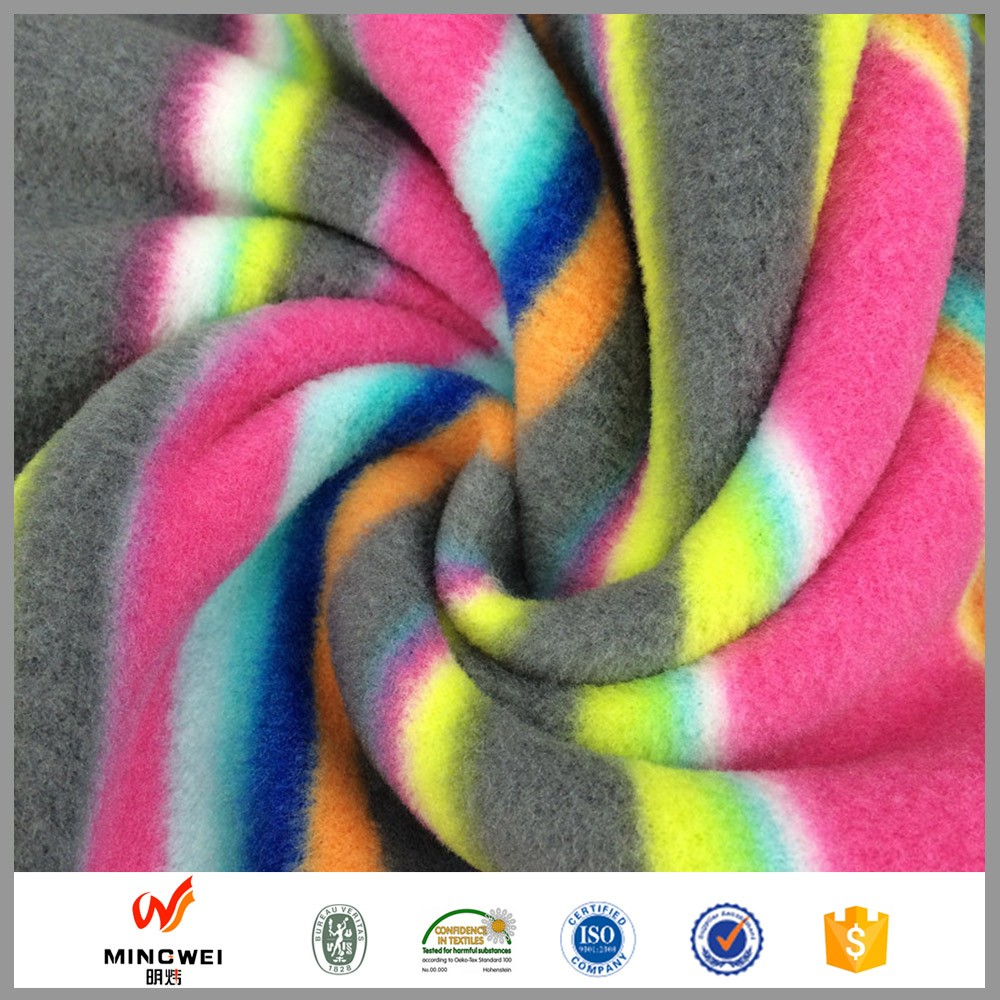 Make to order factory price china supplier 100% polyester french terry fleece fabric per meter