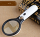 45X 3 LED Light Reading Magnifying / Handheld Magnifier / Glass Lens Jewelry