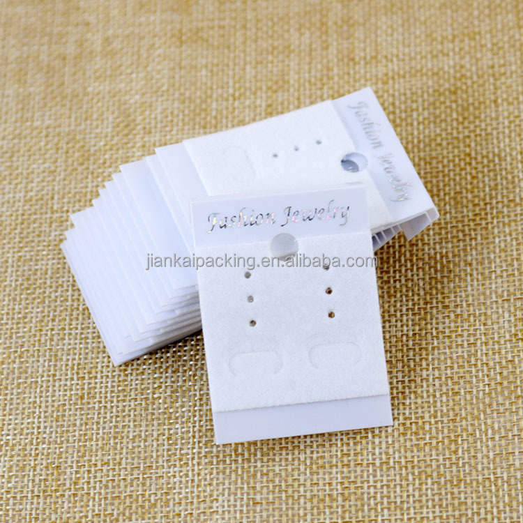 Cheap custom personalized printed stamping jewelry earring card