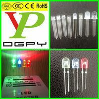 Free sample 3 years warranty piranha/flat top/round 5mm diffused 4-pin super flux RGB led diode